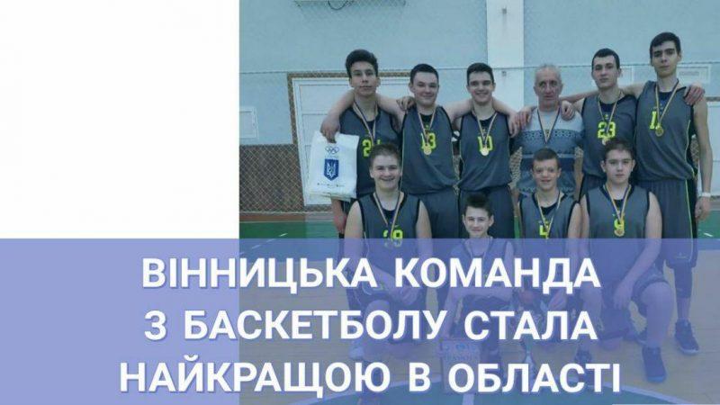 Вінницька команда з баскетболу стала найкращими в області