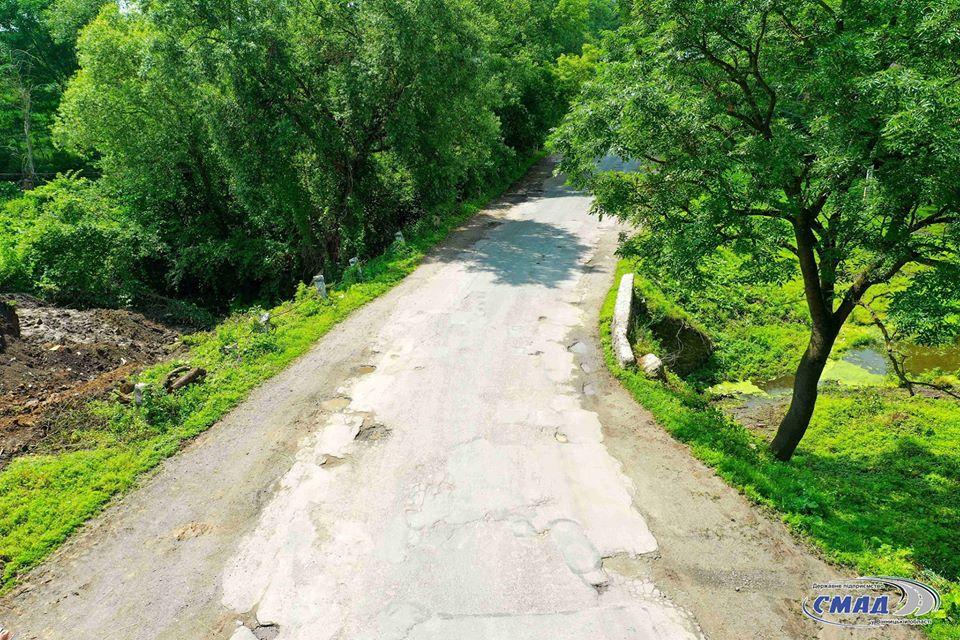 В області будують міст через річку Згорек