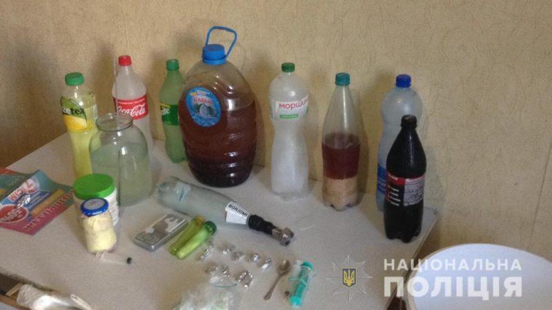 """Поліцейські """"накрили"""" у Вінниці нарколабораторію (ВІДЕО)"""