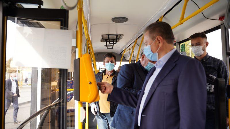 Мер Вінниці Сергій Моргунов тестував новий тролейбус