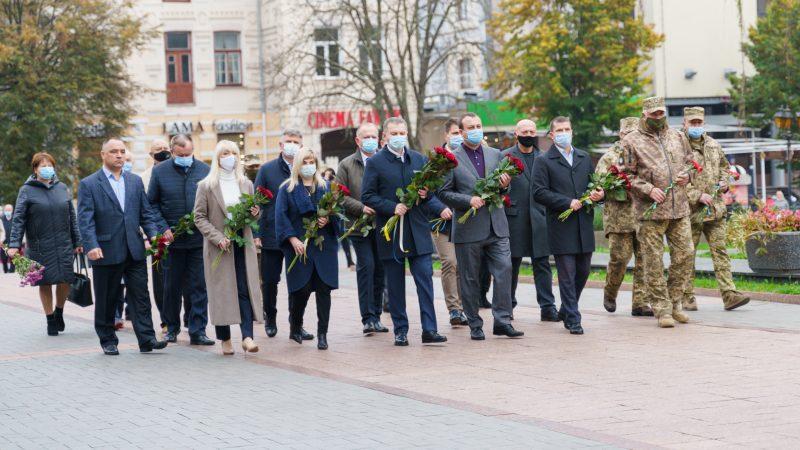 У Вінниці відбулось покладання квітів з вигнання нацистів з України