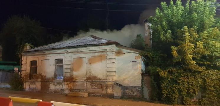 У середмісті Вінниці вночі горів будинок