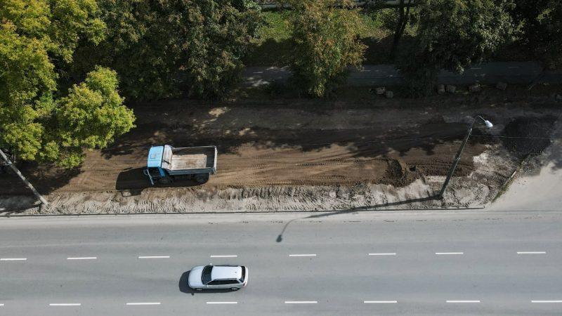 У Вінниці на Київській будують паркувальний майданчик